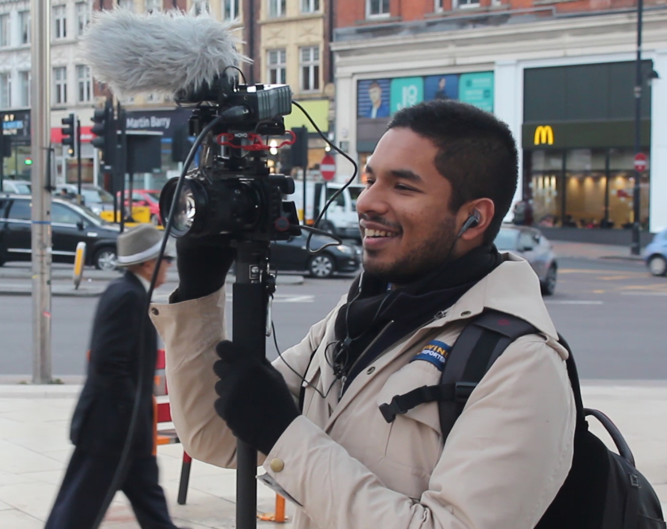 A WinkBall videographer filming